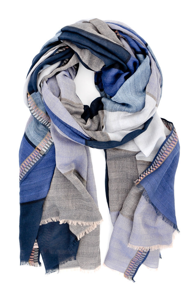 Palette Plaid Cotton Scarf