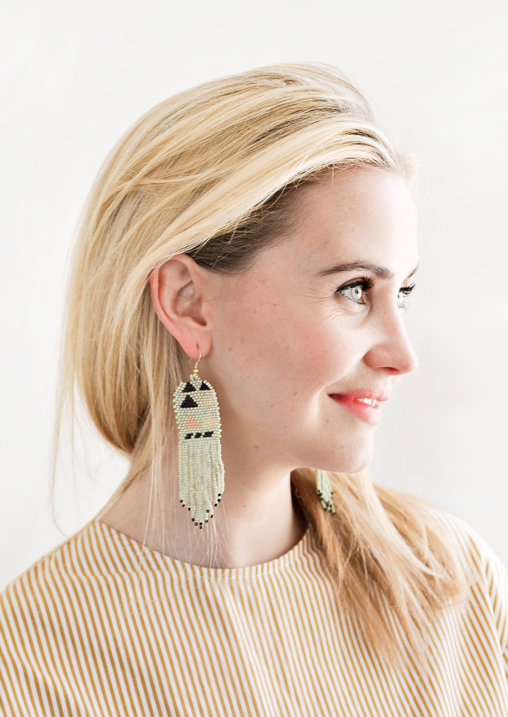2: Palisades Beaded Earrings in  - LEIF