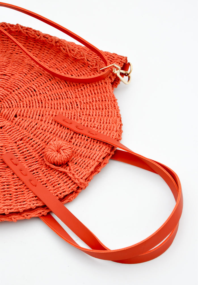 3: Palisades Raffia Crossbody Bag in  - LEIF