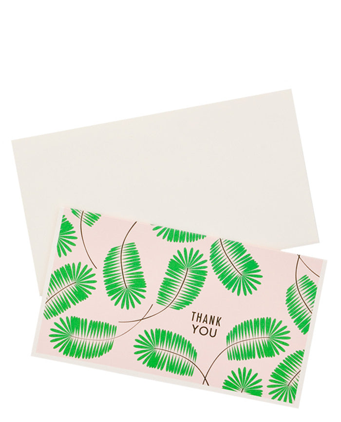 Palm Frond Thank You Card Set - LEIF