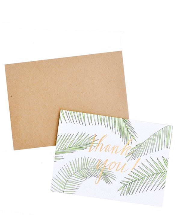 Palm Leaf Thank You Card Set - LEIF