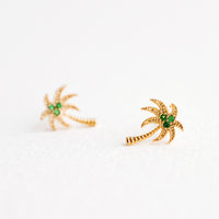 1: Palm Tree Stud Earrings in  - LEIF