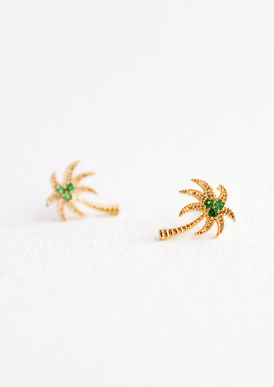 Palm Tree Stud Earrings in  - LEIF