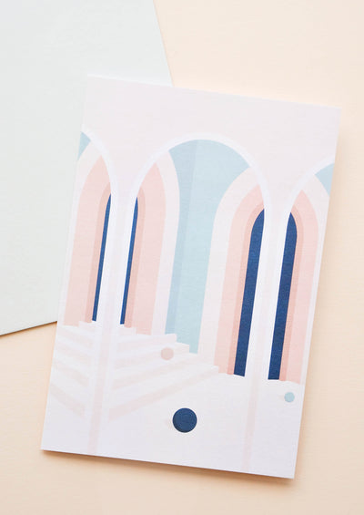 Pastel Arches Blank Card