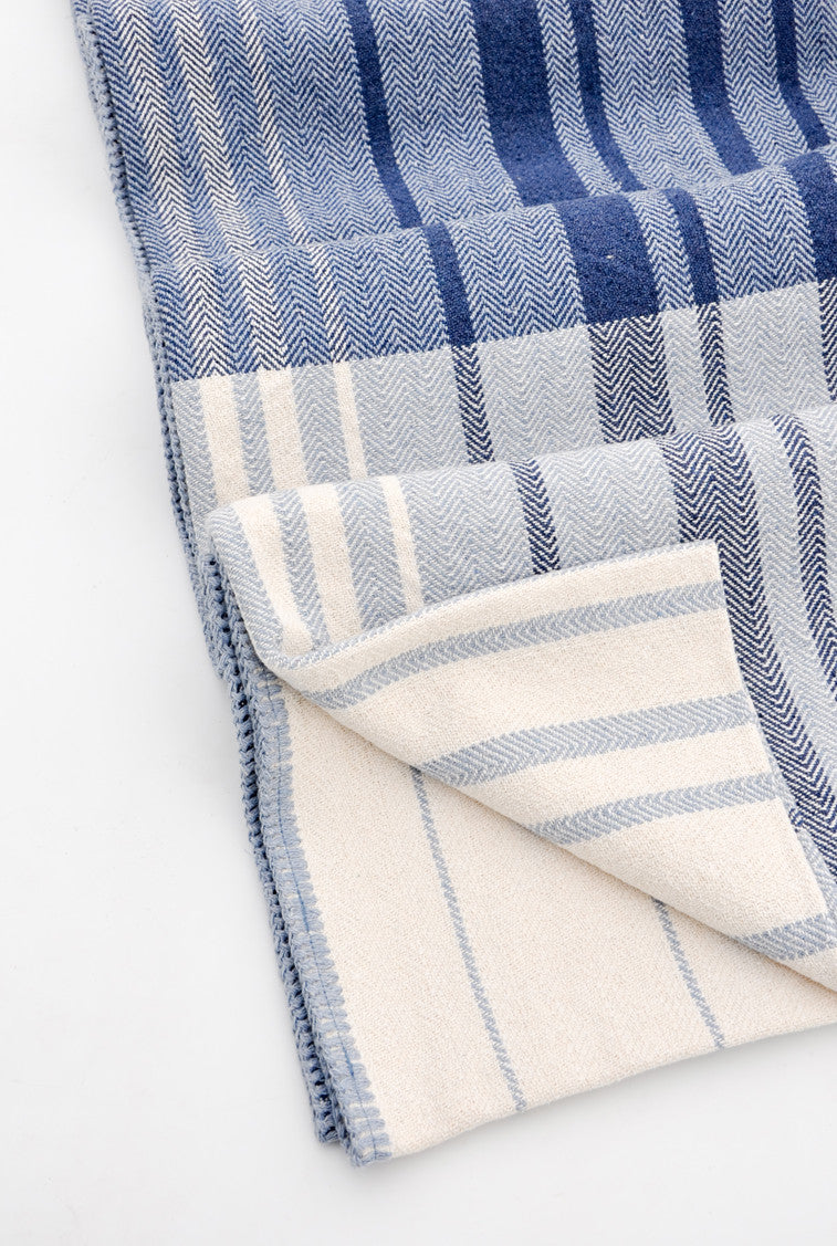 1: Patchwork Stripe Blanket in  - LEIF