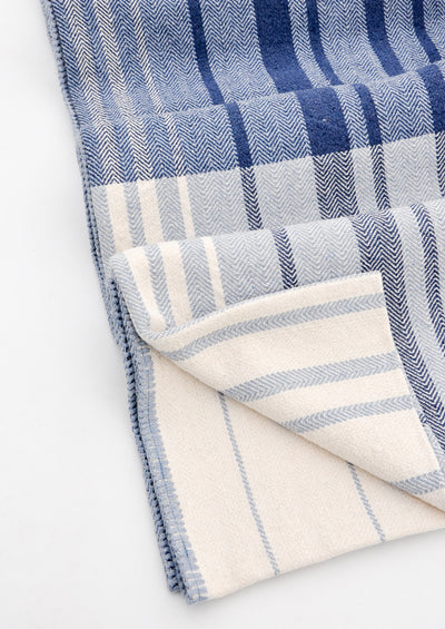 Patchwork Stripe Blanket in  - LEIF