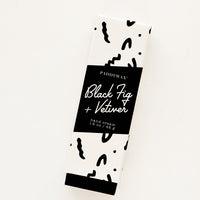 Black Fig & Vetiver: Hand cream in graphic print black and white packaging