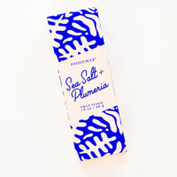 Sea Salt & Plumeria: Hand cream in graphic print blue and pink packaging