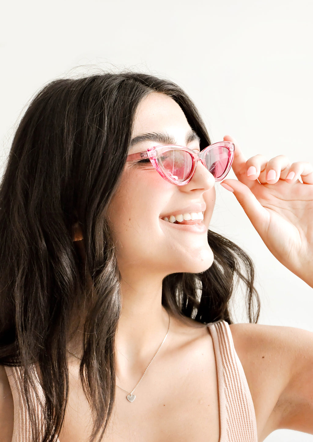 3: Peony Cat Eye Sunglasses in  - LEIF
