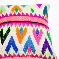 "Neon Peruvian Pillow, 16"" - LEIF"