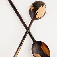 Large Oval / Dark: Peten Wooden Spoon in Large Oval / Dark - LEIF