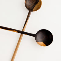 Large Round / Dark: Peten Wooden Spoon in Large Round / Dark - LEIF