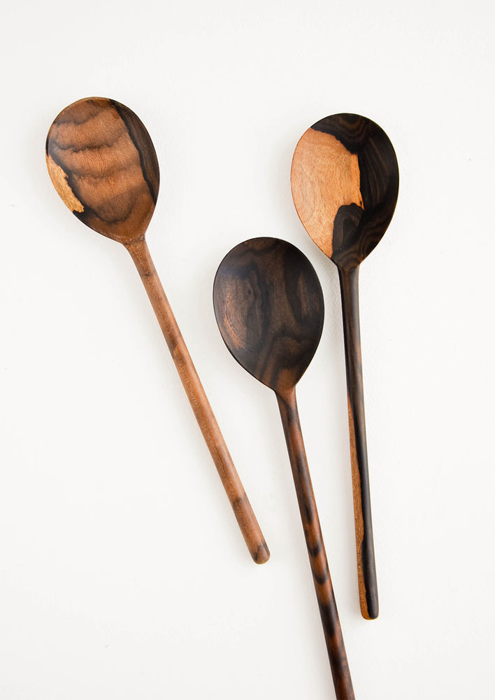 Medium Oval / Dark: Peten Wooden Spoon in Medium Oval / Dark - LEIF