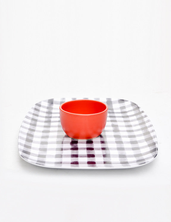 Gingham Serving Tray - LEIF Gingham Serving Tray - LEIF & Piano Nobile Gingham Serving Tray