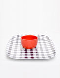Gingham Serving Tray