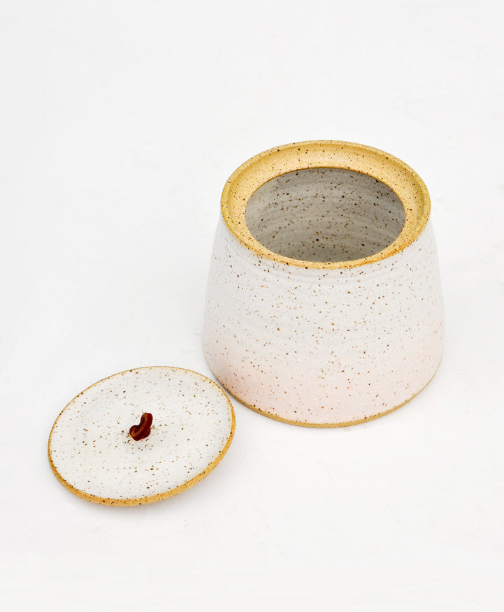 Speckled Gradient Ceramic Jar - LEIF