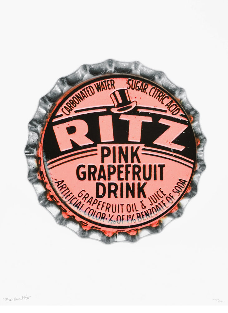 Pink Grapefruit Bottle Cap Print - LEIF