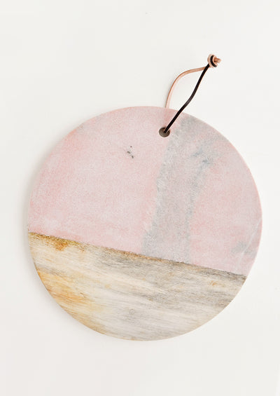 Pink Marble Serving Board