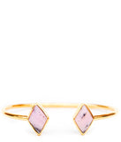 Geo Diamond Cuff in Pink Opal - LEIF