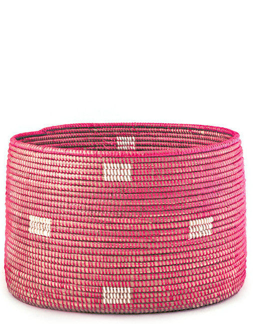 Pink Woven Storage Basket - LEIF