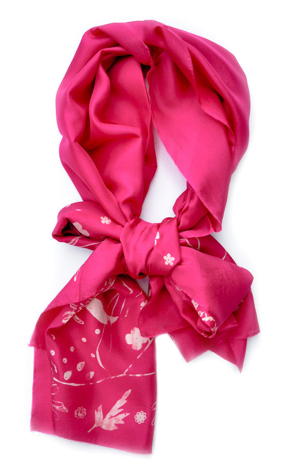 Cactus Queen Silk Scarf in Rose - LEIF