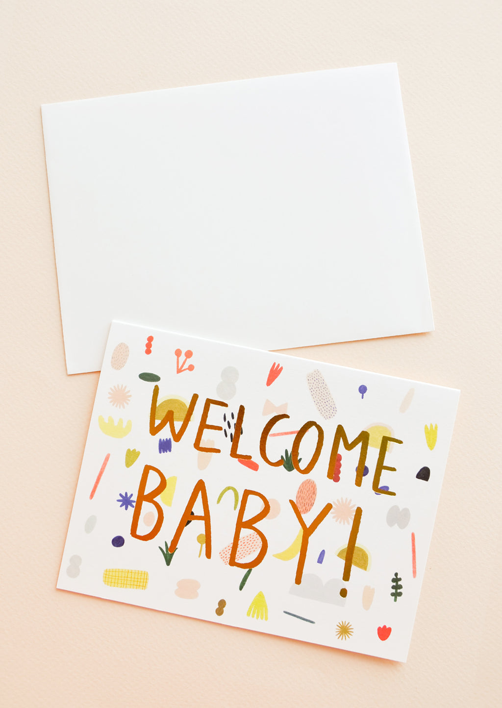1: Playful Shapes Baby Card in  - LEIF