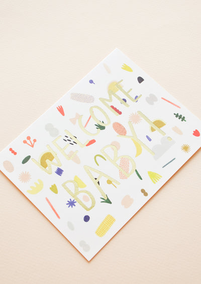 Playful Shapes Baby Card hover