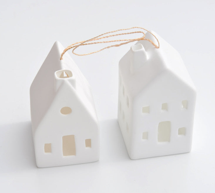 Porcelain Chateau Ornament - LEIF