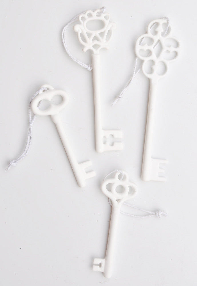 Porcelain Key Ornament Set