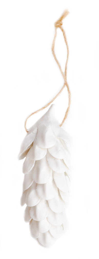 Porcelain Pinecone Ornament - LEIF