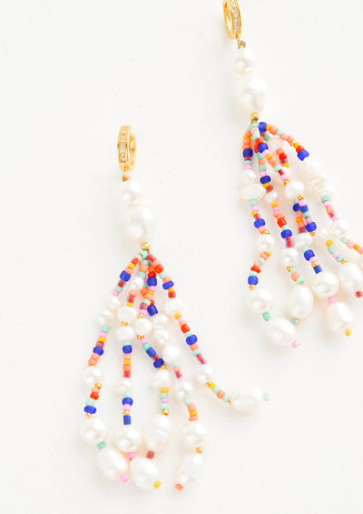 Poseidon Beaded Pearl Earrings