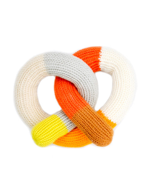 Knit Pretzel Rattle