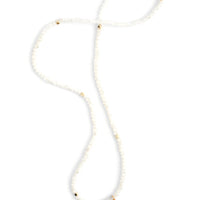 White Sand: Prism Pebble Tassel Wrap in White Sand - LEIF