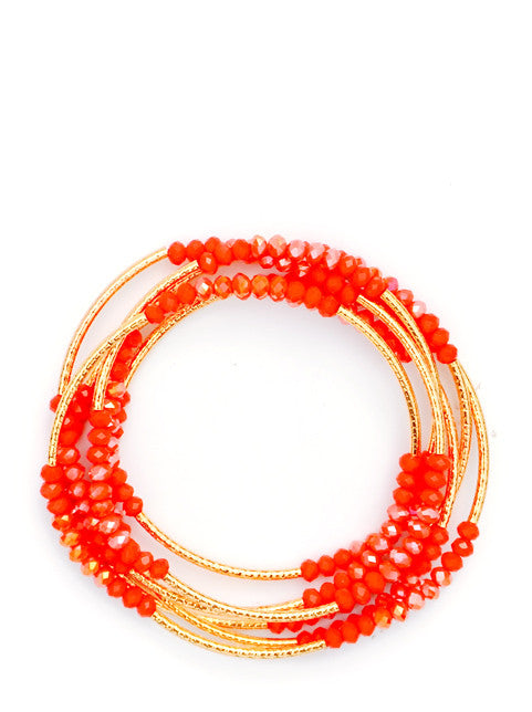 Poppy: Prism Pebble Convertible Bracelet in Poppy - LEIF