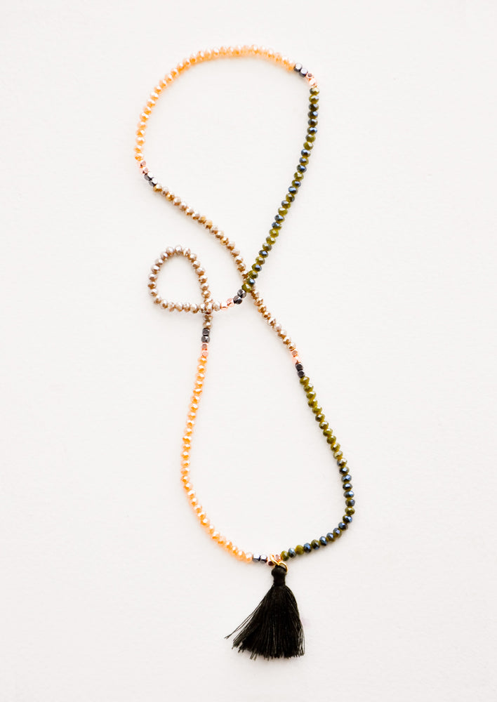 Olive: Prism Pebble Tassel Wrap in Olive - LEIF