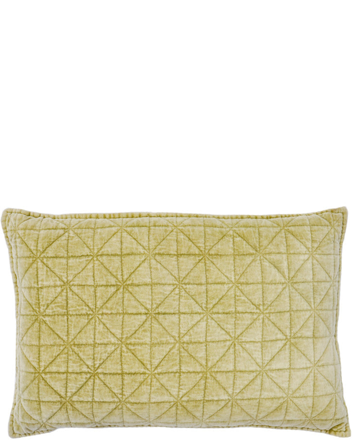 Prism Quilted Velvet Pillow