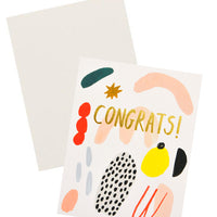 Painted Shapes Congrats Card - LEIF