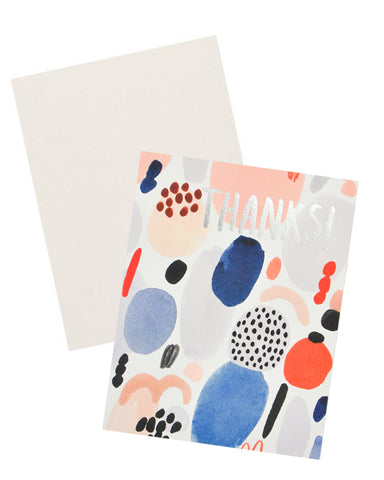 Paint Blobs Thank You Card