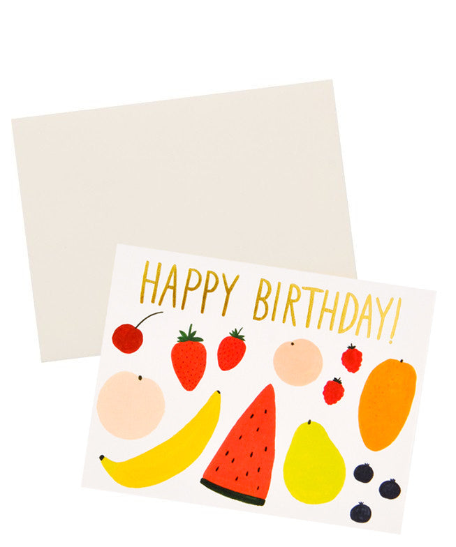 Fruits Happy Birthday Card Set