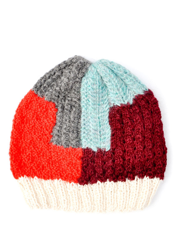 Puzzled Colorblock Beanie - LEIF