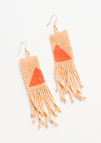 Pyramide Beaded Earrings
