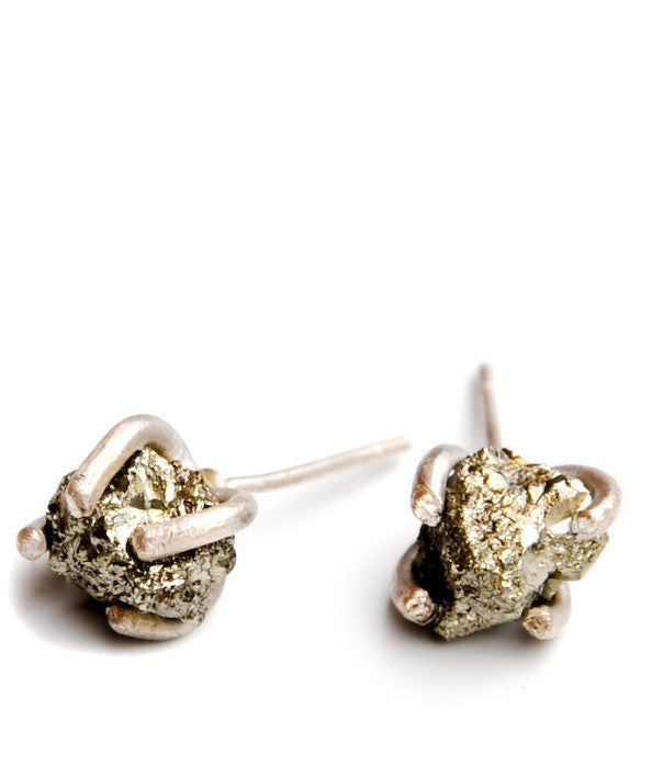 Little Pyrite Prong Earrings - LEIF