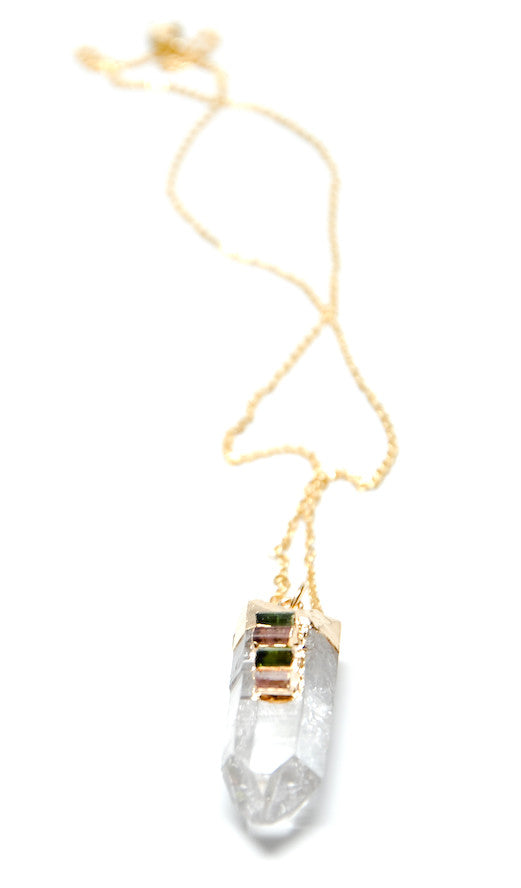 Quartz & Tourmaline Necklace - LEIF