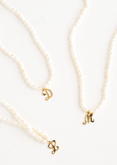 Quincy Pearl Initial Necklace
