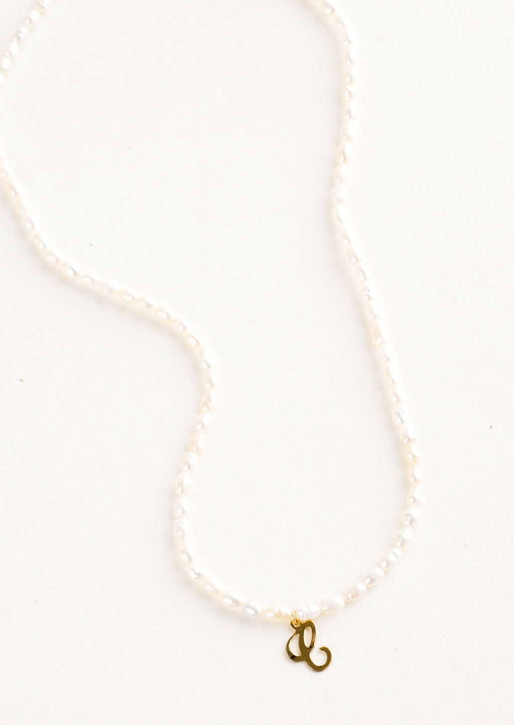 C: Quincy Pearl Initial Necklace