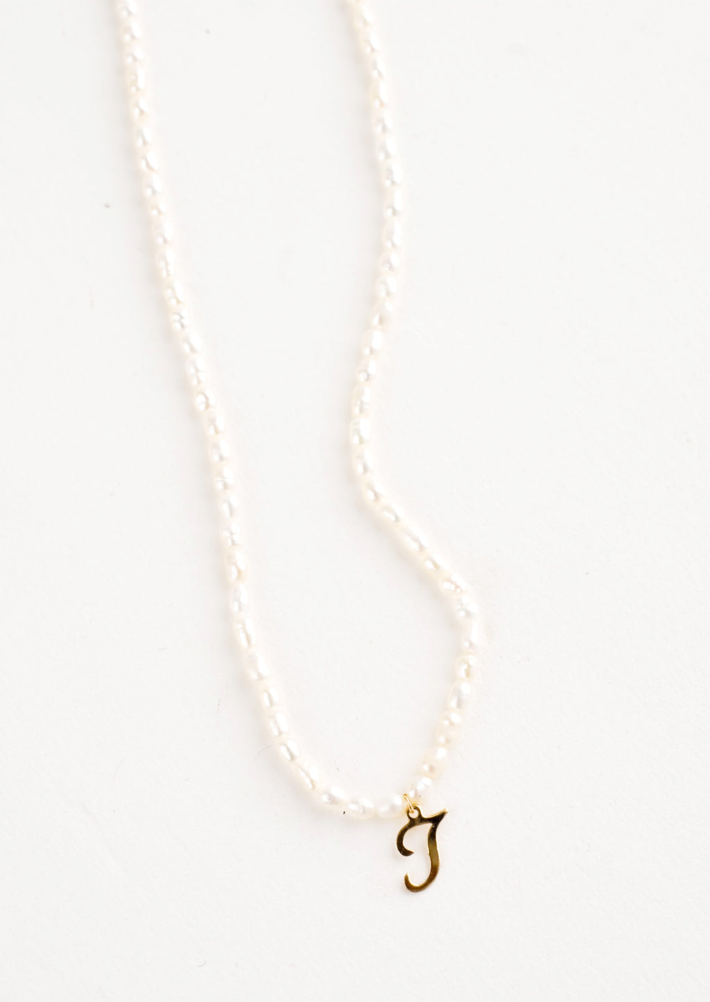 J: Quincy Pearl Initial Necklace