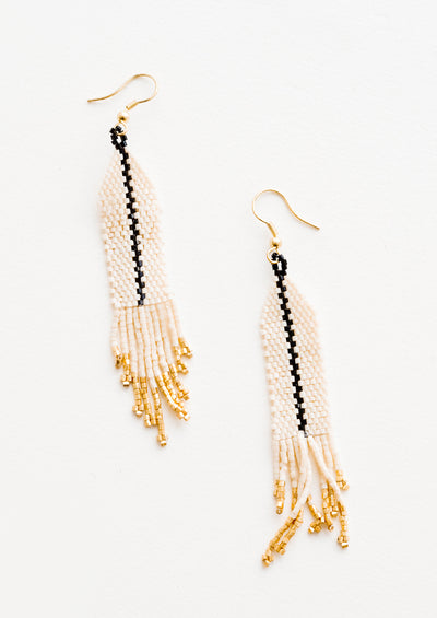 Racing Stripe Beaded Earrings hover