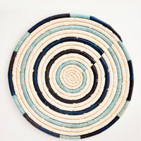 Radiant Rays Raffia Trivet in Blue Multi - LEIF