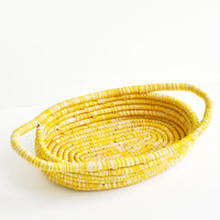 Raffia Bread Basket in Yellow - LEIF
