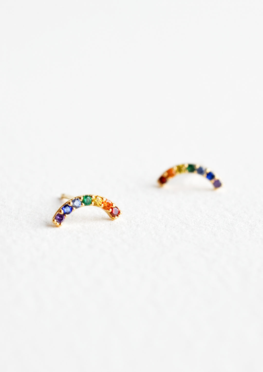 Rainbow Arc Stud Earrings